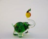 Glass elephant Stock Images