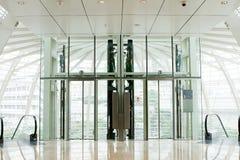 glass elevator Royaltyfri Fotografi