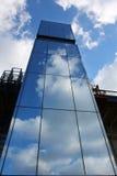 Glass elevator. On the bridge Royalty Free Stock Photography