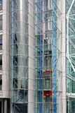 Glass elevator. In modern new office building Stock Photo