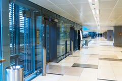 Glass elevator Fotografering för Bildbyråer