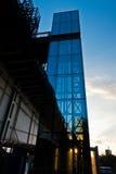 Glass elevator at the bridge over Sava river in Belgrade. Serbia Royalty Free Stock Photos