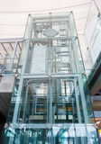 Glass elevator Royalty Free Stock Photos