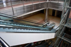 Glass elevator shaft. In a modern office building Stock Image
