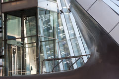 Glass elevator shaft in a modern building Stock Photography