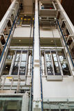 Glass elevator. For support people Stock Photography