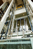 Glass elevator. For support people Royalty Free Stock Photos
