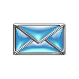 Glass Email icon Royalty Free Stock Images