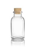 Glass empty bottle with cork. On white. 3D rendering with clipping path Stock Photography