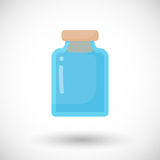 Glass empty jar  flat icon Stock Photos