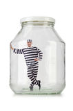 Glass empty jar Stock Image