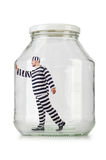 Glass empty jar Royalty Free Stock Photo