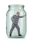 Glass empty jar Royalty Free Stock Image
