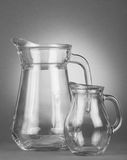 Glass, empty jugs Stock Photography
