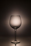 A glass empty. Spilling wine from a glass stock photography