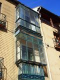 Glass Enclosed Balcony, Segovia, Spain Royalty Free Stock Images
