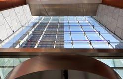 Glass entrance. Of a modern building Stock Photos