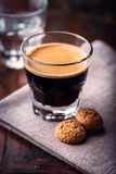 Glass of Espresso Stock Photos