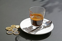 Glass of espresso Royalty Free Stock Photo