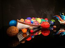 Glass exhibit at the Chihuly Garden and Glass Royalty Free Stock Photo