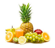 Glass of exotic healthy smoothie with fruit. Stock Image