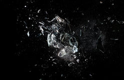 Glass explosion Arkivfoto