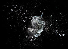 Glass explosion. Close up image of glass ball explosion stock photography