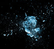 Glass explosion. Close up image of glass ball explosion stock photos