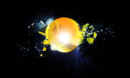 Glass explosion stock photo