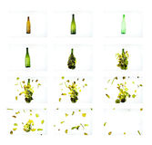 Glass explosion Royalty Free Stock Photography