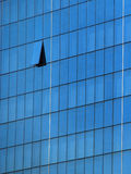 Glass exterior. New building with glass exterior royalty free stock photography