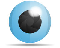 Glass eye logo. Glass web style eye logo sign Stock Images