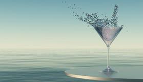 glass färgstänk glass vatten Royaltyfri Bild