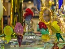 Glass fåglar från Venedig Arkivbilder