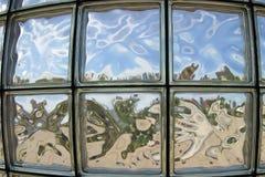 glass fönster för block Arkivfoto