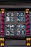 Glass fönster för krona i Aachen Arkivfoto