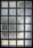 glass fönster för tegelsten royaltyfria foton