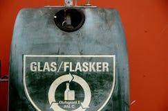 GLASS FÖRLORAD BEHÅLLARE FÖR ÅTERANVÄNDNING AV EXPONERINGSGLAS Arkivbilder