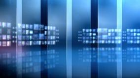 Glass förse med rutor den blåa bakgrundsuppsättningen arkivfilmer