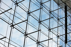 Glass facade - architectural detail. Glass facade of a Corporate building in Tokyo Stock Image
