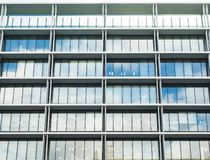 Glass Facade Architecture details Modern Building Exterior stock photo