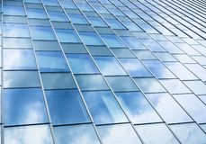Glass Facade Architecture details Modern Building Exterior Sky Reflection royalty free stock photos
