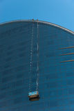 Glass facade from the Barcelona-W Hotel in Barceloneta Stock Photography