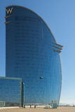Glass facade from the Barcelona-W Hotel Royalty Free Stock Photos