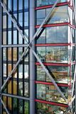 Glass facade of building. Glass facade of the building Royalty Free Stock Photography
