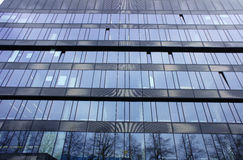 The glass facade of the building Royalty Free Stock Photography