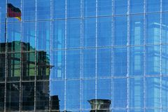 Glass facade at the Bundestag Stock Photo