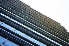Glass Facade Modern Building Exterior Architecture abstract royalty free stock photo