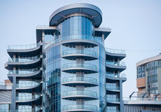 Glass facade on modern building Royalty Free Stock Photography