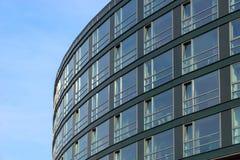 Glass facade of a modern building stock image